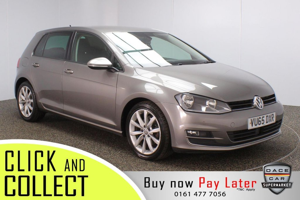 USED 2015 65 VOLKSWAGEN GOLF 1.4 GT TSI ACT BLUEMOTION TECHNOLOGY DSG 5DR AUTO 148 BHP £30 12 MONTHS ROAD TAX + SATELLITE NAVIGATION + REVERSING CAMERA + PARKING SENSOR + BLUETOOTH + CRUISE CONTROL + AIR CONDITIONING + MULTI FUNCTION WHEEL + PRIVACY GLASS + DAB RADIO + AUX/USB PORTS + ELECTRIC WINDOWS + ELECTRIC/HEATED/FOLDING DOOR MIRRORS + 17 INCH ALLOY WHEELS