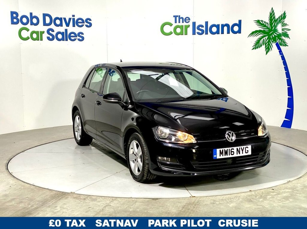 USED 2016 16 VOLKSWAGEN GOLF 1.6 MATCH EDITION TDI BMT 5d 109 BHP SATNAV Park Sensors 58000miles Privacy Glass Full VW SH