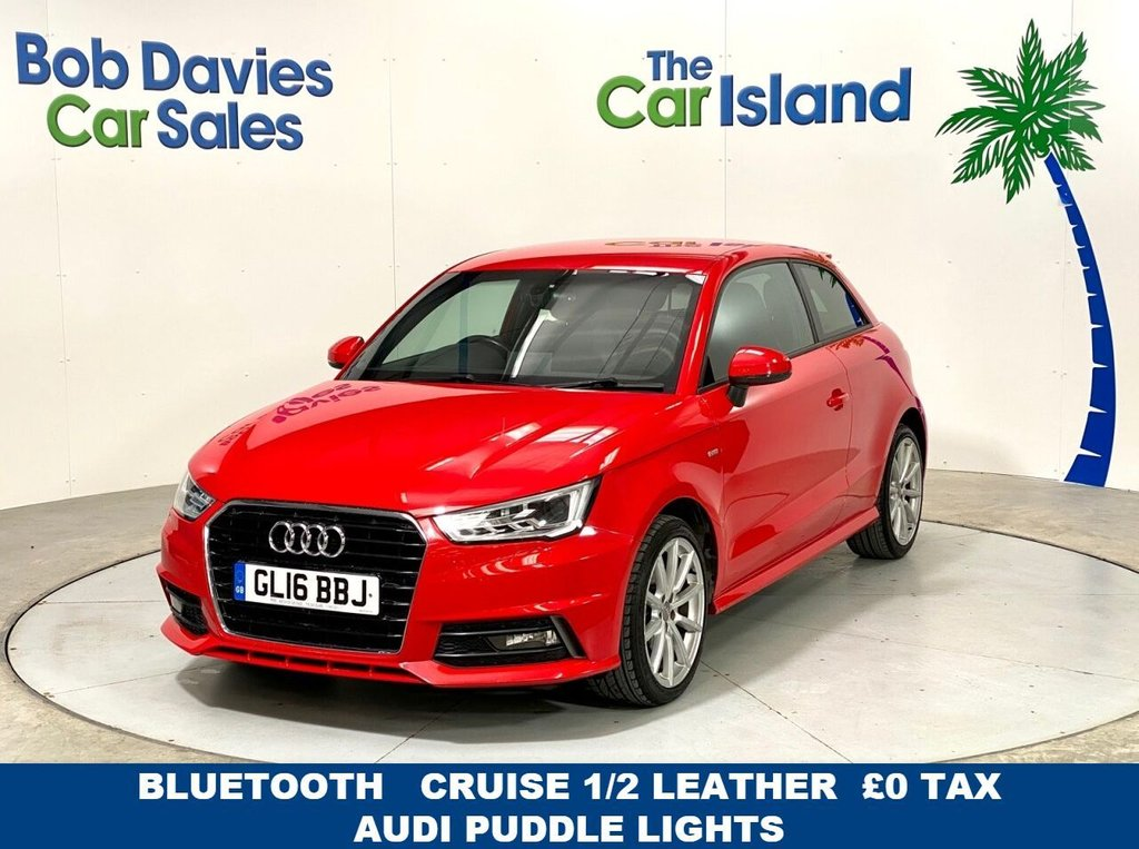 USED 2016 16 AUDI A1 1.6 TDI S LINE 3d 114 BHP Park Sensors £0Tax Privacy Glass Half Leather 50000miles