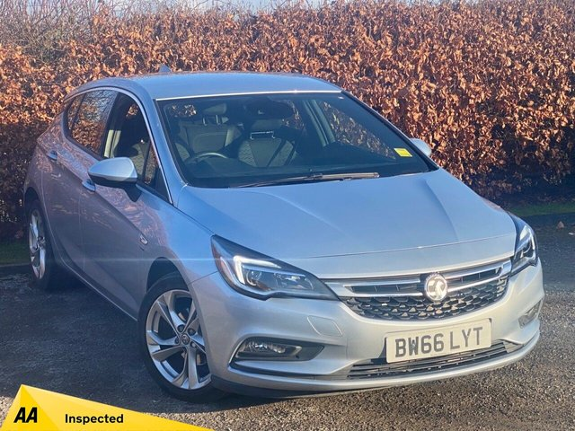 USED 2017 66 VAUXHALL ASTRA 1.4 SRI NAV 5d 148 BHP * 128 POINT AA INSPECTED * LOW MILEAGE CAR * 12 MONTHS FREE AA MEMBERSHIP *
