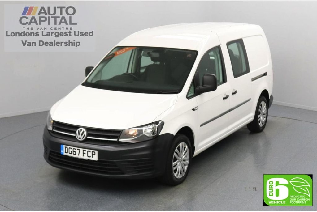 USED 2017 67 VOLKSWAGEN CADDY MAXI 2.0 C20 TDI 101 BHP 5 Seats Combi Euro 6 Low Emission Touch Screen display | DAB Radio System features | Auto Start-Stop system