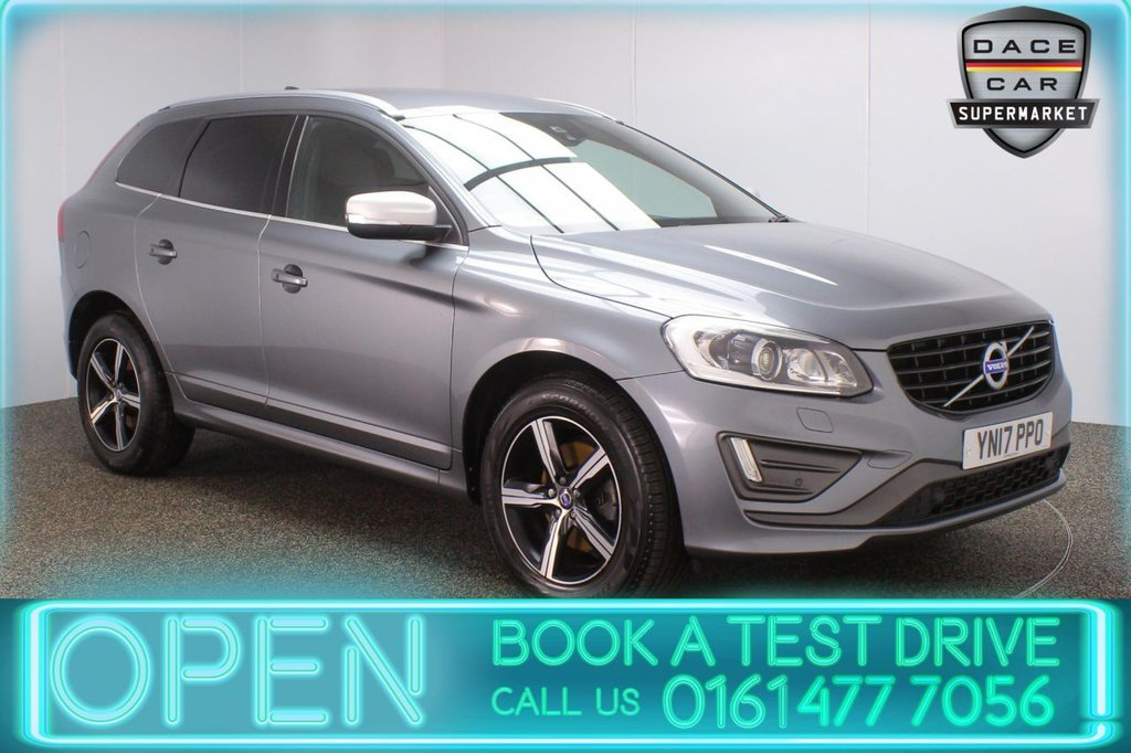 USED 2017 17 VOLVO XC60 2.0 D4 R-DESIGN LUX NAV 5DR 1 OWNER 188 BHP FULL SERVICE HISTORY + £30 12 MONTHS ROAD TAX + HEATED LEATHER SEATS + SATELLITE NAVIGATION + PARKING SENSOR + BLUETOOTH + CRUISE CONTROL + CLIMATE CONTROL + MULTI FUNCTION WHEEL + XENON HEADLIGHTS + DAB RADIO + ELECTRIC/MEMORY FRONT SEATS + ELECTRIC WINDOWS + ELECTRIC/HEATED/FOLDING DOOR MIRRORS + ALLOY WHEELS