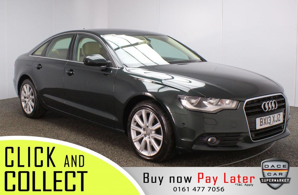 USED 2013 13 AUDI A6 2.0 TDI SE 4DR 175 BHP FULL SERVICE HISTORY + HEATED LEATHER SEATS + SATELLITE NAVIGATION + PARK ASSIST + PARKING SENSOR + BLUETOOTH + CRUISE CONTROL + CLIMATE CONTROL + MULTI FUNCTION WHEEL + ELECTRIC/MEMORY FRONT SEATS + ELECTRIC WINDOWS + ELECTRIC/HEATED DOOR MIRRORS + 18 INCH ALLOY WHEELS