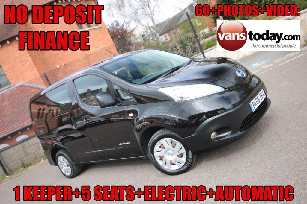 USED 2016 66 NISSAN NV200 0.0 E ACENTA 108 BHP + AUTO + ELECTRIC + 5 SEAT COMBI NO DEPOSIT FINANCE + 5 SEAT + ELECTRIC + AUTO