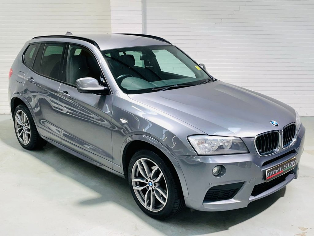 USED 2013 63 BMW X3 2.0 SDRIVE18D M SPORT 5d 141 BHP High Spec, Space Grey with Black Leather Interior