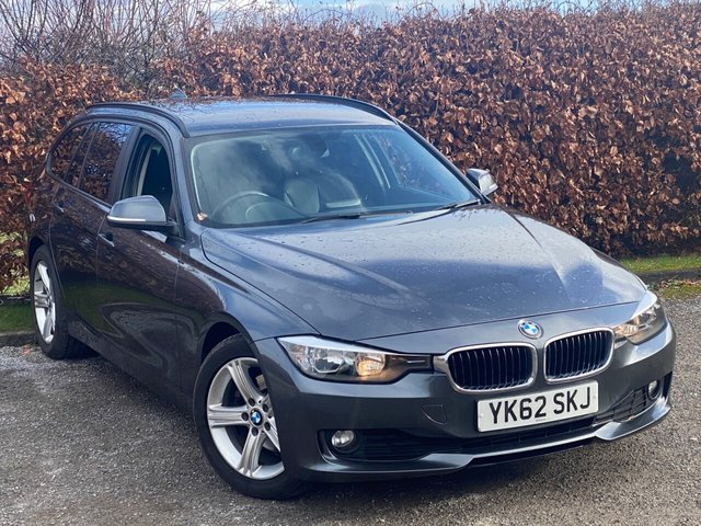 USED 2012 62 BMW 3 SERIES 2.0 320D SE TOURING 5d 181 BHP * 12 MONTHS FREE AA MEMBERSHIP * FULL BLACK LEATHER * AUTOMATIC *