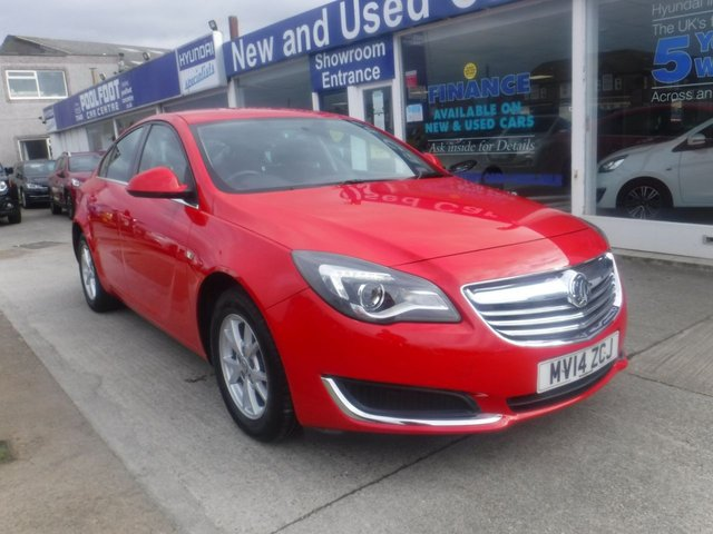 USED 2014 14 VAUXHALL INSIGNIA 1.8 DESIGN 5d 138 BHP *1 OWNER FROM NEW*FULL SERVICE HISTORY*USB*BLUETOOTH*DAB RADIO*CRUISE CONTROL*