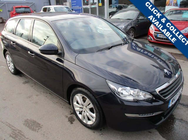 USED 2017 17 PEUGEOT 308 1.6 BLUE HDI S/S SW ACTIVE 5d 120 BHP