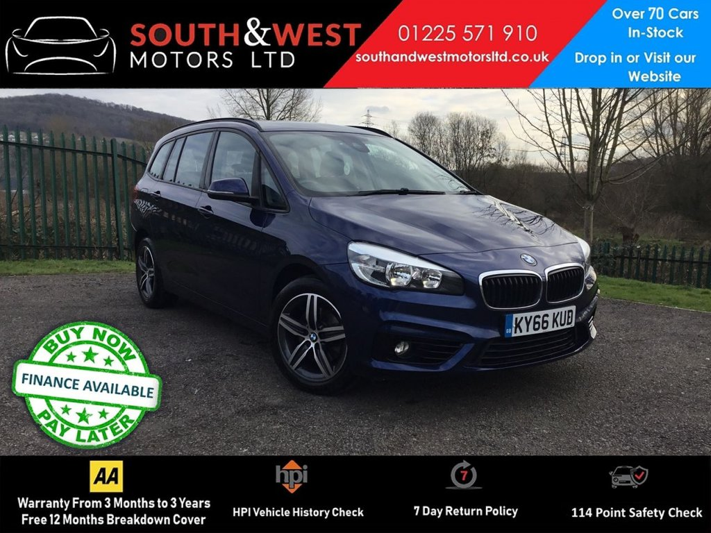 USED 2016 66 BMW 2 SERIES 2.0 218D SPORT GRAN TOURER 5d 148 BHP