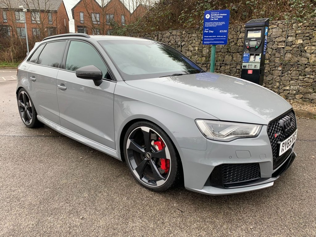 USED 2015 65 AUDI A3 2.5 RS3 SPORTBACK QUATTRO 5d 362 BHP Free Next Day Nationwide Delivery