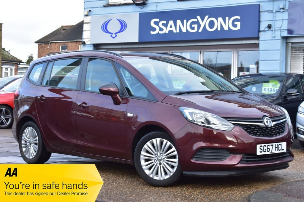 USED 2017 67 VAUXHALL ZAFIRA TOURER 1.4T DESIGN 5d 138 BHP 7 SEAT FINANCE AVAILABLE FOR £199 PER MONTH £0 DEPOSIT
