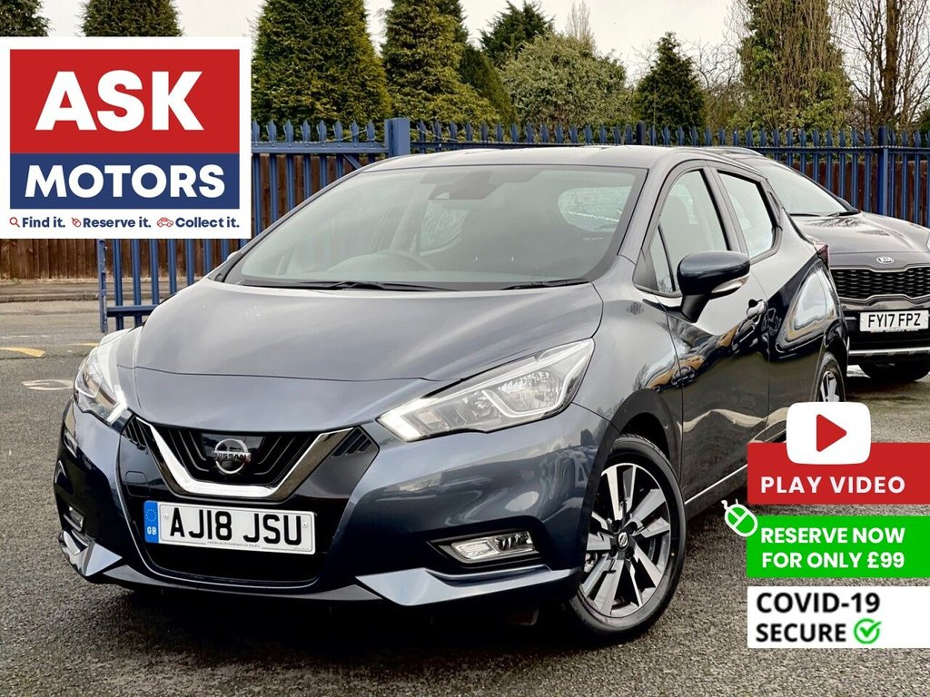 USED 2018 18 NISSAN MICRA 1.0 ACENTA 5d 70 BHP APPLE CAR PLAY BLUETOOTH