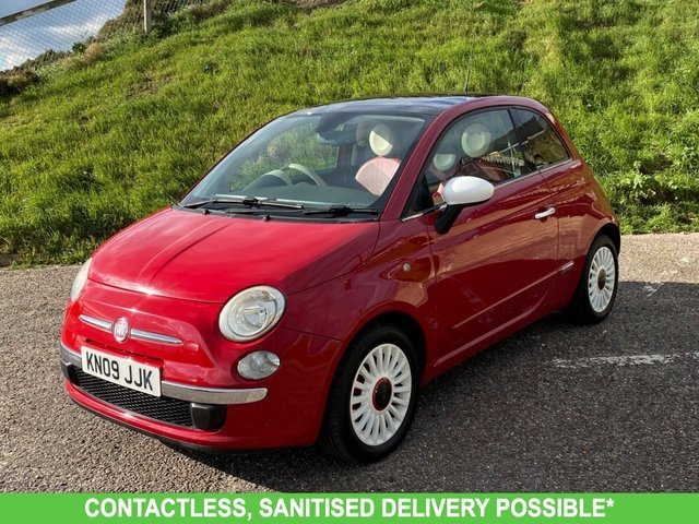 USED 2009 09 FIAT 500 1.4 LOUNGE DUALOGIC 3d 99 BHP AUTOMATIC LOW MILEAGE, MANY EXTRAS.FINANCE ME TODAY-UK DELIVERY POSSIBLE
