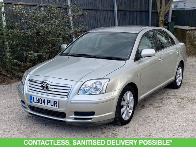 USED 2004 04 TOYOTA AVENSIS 1.8 T3-S VVT-I 5d 127 BHP AUTOMATIC, TWO OWNERS, LOW MILEAGE, UK DELIVERY POSSIBLE