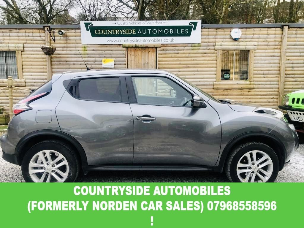 USED 2017 67 NISSAN JUKE 1.5 N-CONNECTA DCI 5d 110 BHP Here we have a stunning great specification top of the range N-CONNECTA Juke 1.5 diesel. finished in a stunning metalic grey with privacy glass and 17 inch Alloy wheels. The interior is dressed in half leather with all the modern requirements of today , Sat Nav, Bluetooth, DAB radio, Touchscreen with Bluetooth, Media AUX and USB. Has only had one previous owner and has been serviced in accordance with Nissan requirements and will be done again prior to delivery even though not actually due.