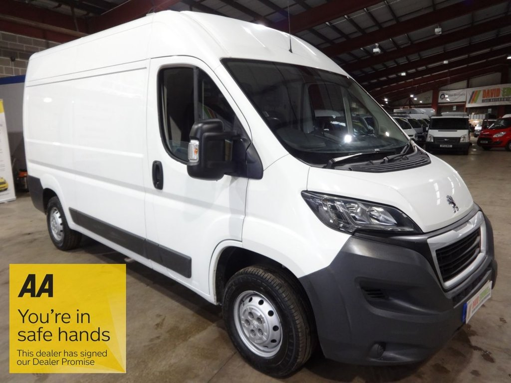 USED 2016 16 PEUGEOT BOXER 2.2 HDI 333 L2H2 PROFESSIONAL P/V MWB HI ROOF VAN - AA DEALER PROMISE - TRADING STANDARDS APPROVED -