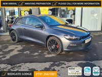 USED 2013 13 VOLKSWAGEN SCIROCCO 2.0 TDI BLUEMOTION TECHNOLOGY 2d 140 BHP SAT/NAV, BLUETOOTH, UPGRADED ALLOYS, TINTED GLASS, 7 SERVICES, FAB MPG.....