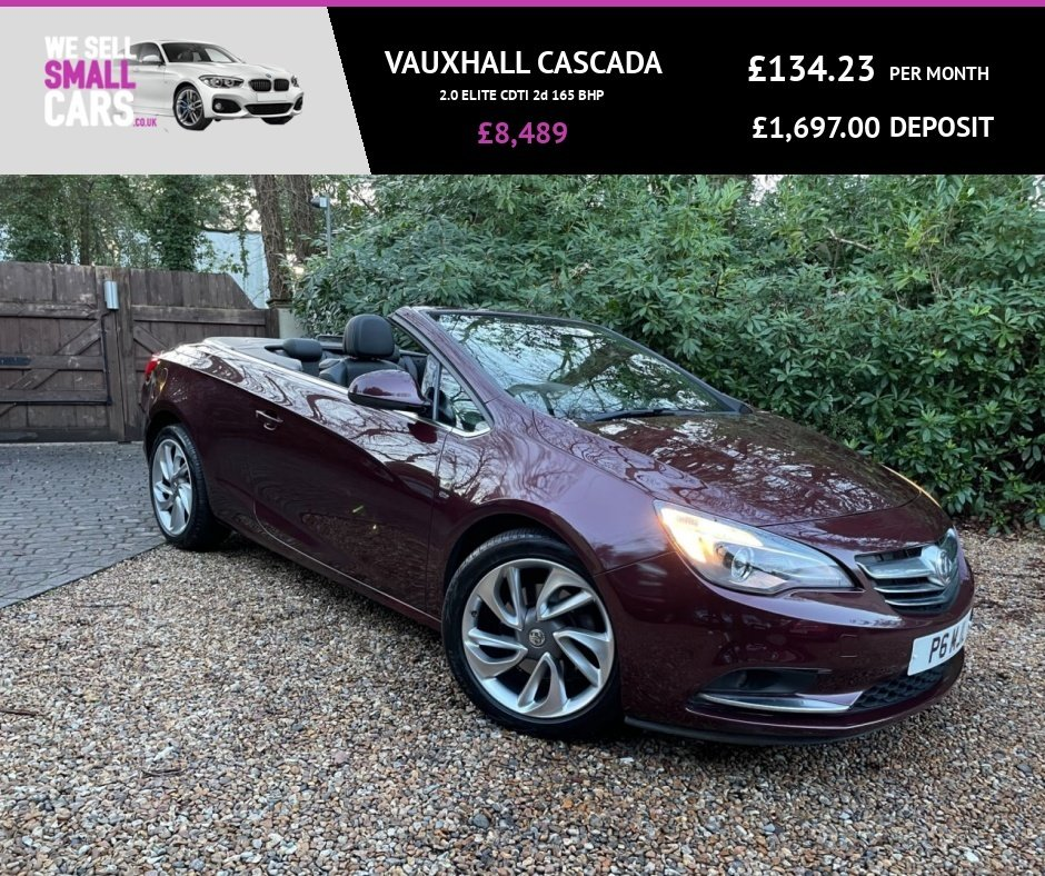 USED 2013 P VAUXHALL CASCADA 2.0 ELITE CDTI 2d 165 BHP 3 OWNERS FULL SERVICE HISTORY FULL HEATED LEATHER LOW MILES