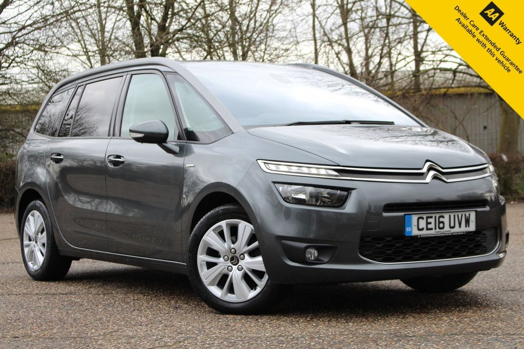 USED 2016 16 CITROEN C4 GRAND PICASSO 1.6 BLUEHDI EXCLUSIVE PLUS 5d 118 BHP ** FULL SERVICE HISTORY ** FRESHLY SERVICED ** LONG ADVISORY FREE MOT ** UPGRADED PARK ASSIST ** SATELLITE NAVIGATION ** REAR PARKING CAMERA ** POWER TAILGATE ** CRUISE CONTROL ** CLIMATE CONTROL ** BLUETOOTH ** PANORAMIC GLASS ROOF ** BLIND SPOT MONITORING ** MASSAGE ELECTRIC SEATS ** AUTO LIGHTS + WIPERS **  70+ MPG - £20 ROAD TAX ** ULEZ CHARGE EXEMPT ** NATIONWIDE DELIVERY AVAILABLE ** CLICK & COLLECT AVAILABLE ** BUY ONLINE IN CONFIDENCE FROM A MULTI AWARD WINNING 5* RATED DEALER **