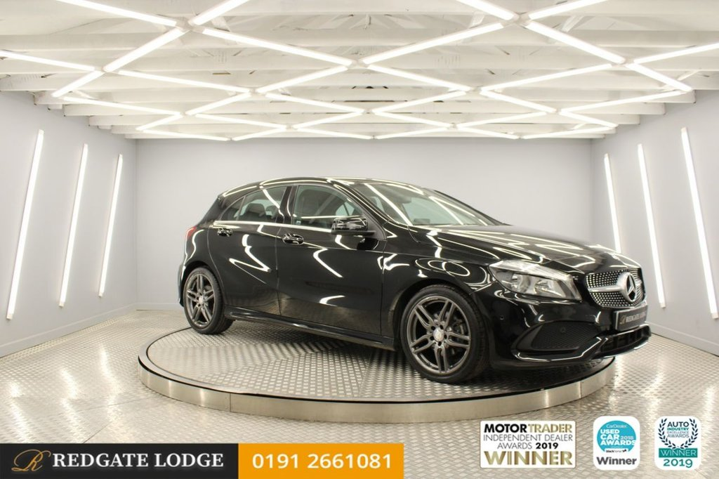 USED 2017 17 MERCEDES-BENZ A-CLASS 1.5 A 180 D AMG LINE EXECUTIVE 5d 107 BHP SAT/NAV, DAB, BLUETOOTH, REVERSE CAMERA, HEATED SEATS, FAB MPG..