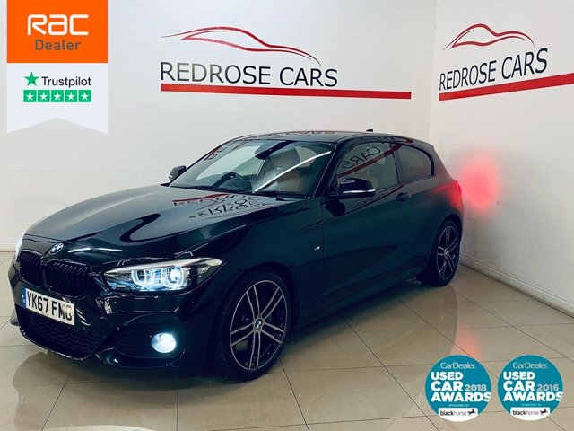 USED 2017 67 BMW 1 SERIES 2.0 125D M SPORT SHADOW EDITION 3d 221 BHP FULL SRVC, NAV, BROWN LEATHER