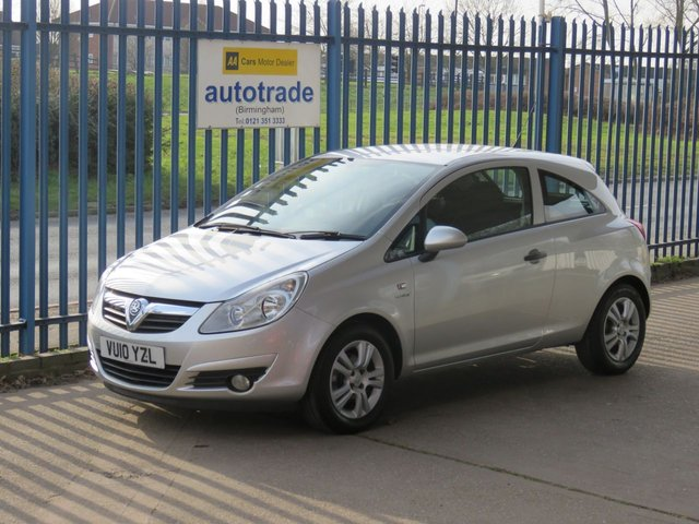 USED 2010 10 VAUXHALL CORSA 1.2 ENERGY 3d 83 BHP Air Con & Service History Great Economy & Low Insurance