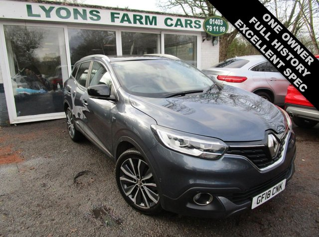 USED 2018 18 RENAULT KADJAR 1.2 SIGNATURE S NAV TCE 5d 130 BHP AUTOMATIC Full Service History, One Owner, NEW MOT, Automatic