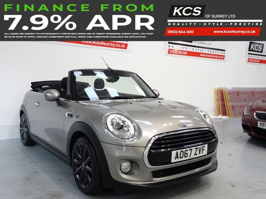USED 2017 67 MINI CONVERTIBLE 1.5 COOPER 2d 134 BHP CHILI PACK - HTD SEATS -CAMERA