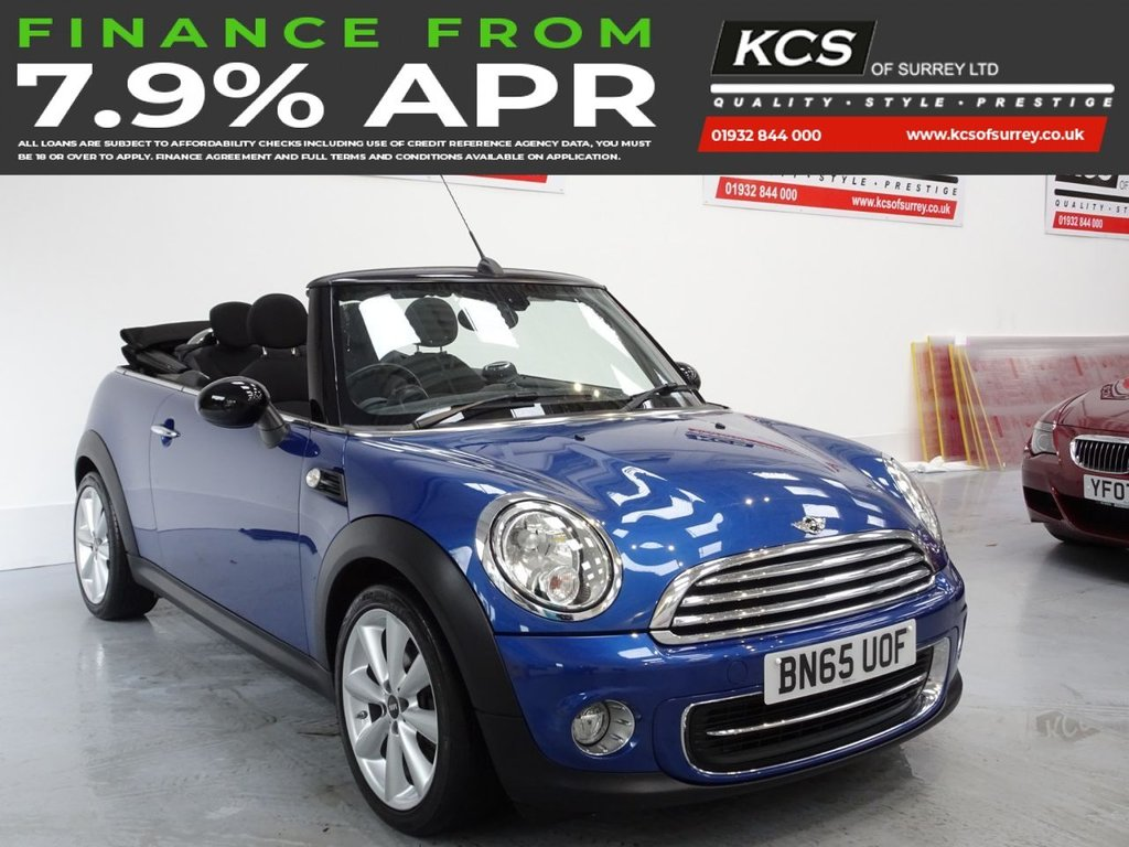 "USED 2015 65 MINI CONVERTIBLE 1.6 COOPER 2d 122 BHP CHILI PACK - 17"" ALLOYS"