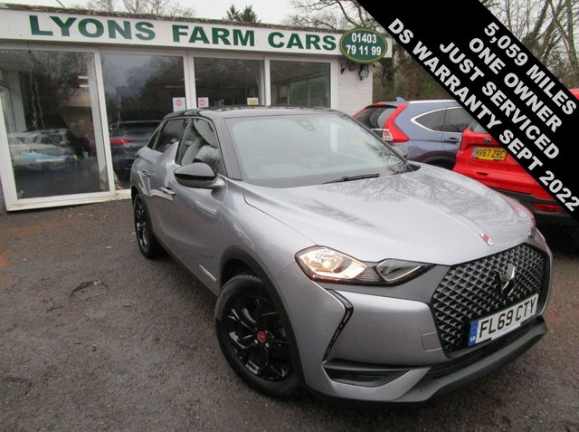 USED 2019 69 DS DS 3 CROSSBACK 1.2 PURETECH PERFORMANCE LINE S/S 5d 100 BHP Only 5,059 miles covered from new by One Owner, Just Serviced, Balance of DS Warranty + MOT until September 2022