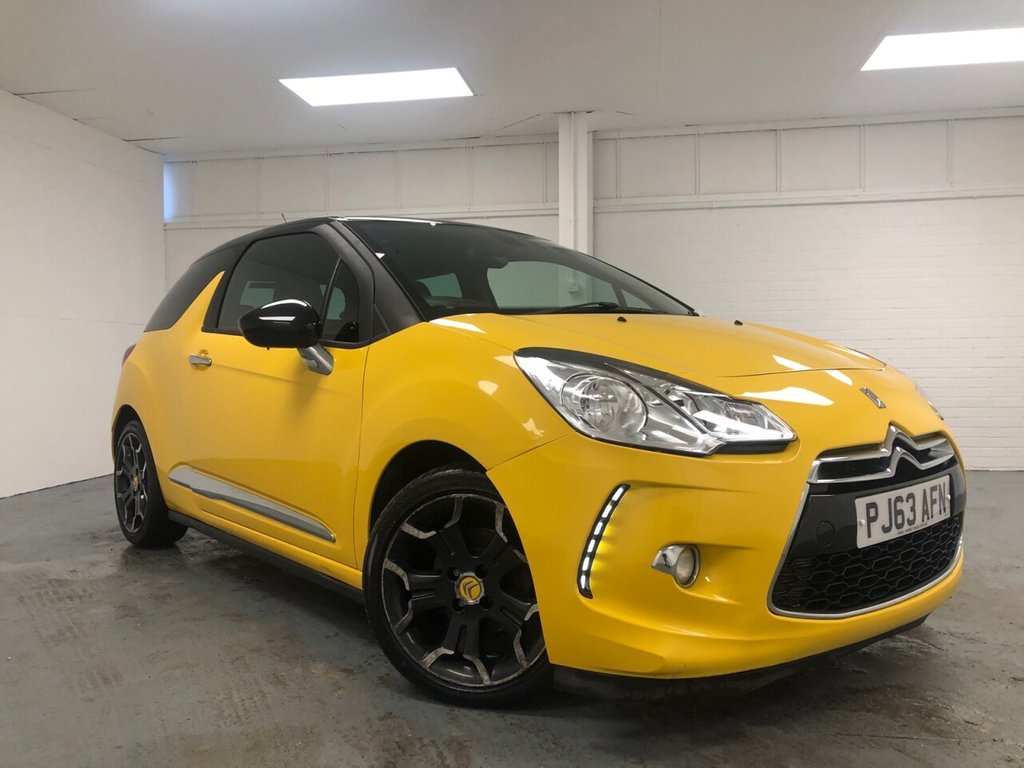 USED 2013 63 CITROEN DS3 1.6 E-HDI DSTYLE PLUS 3d 90 BHP £109 a month, T&Cs apply.