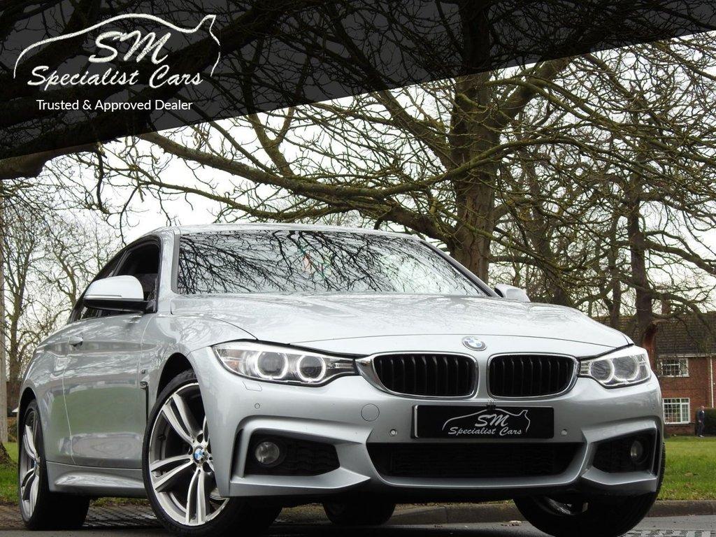 USED 2015 65 BMW 4 SERIES 3.0 430D XDRIVE M SPORT 2d 255 BHP HUGE SPEC LEATHER SAT NAV VGC