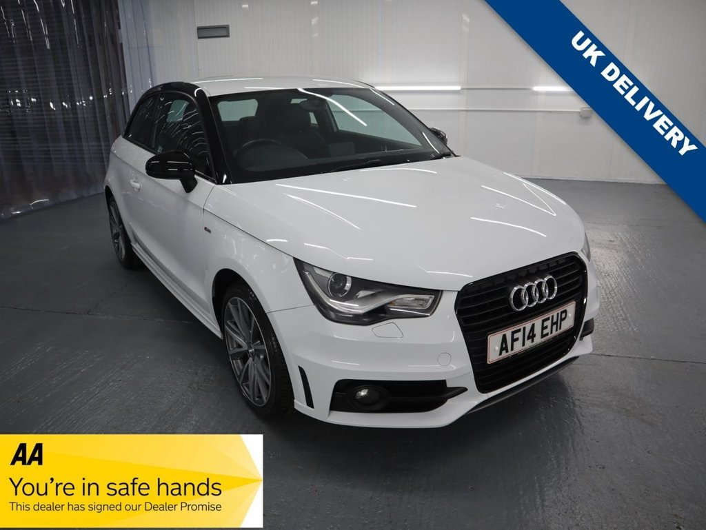 USED 2014 12 AUDI A1 1.4 TFSI S LINE STYLE EDITION 3d 121 BHP WELL EQUIPED, EFFICIENT & GREAT FUN TO DIRVE. THE S LINE EDITION FEATURES A SPECIAL BODYKIT, PART LEATHER SEATS, XENON HEADLIGHTS AND LED INTERIOR LIGHTS PLUS ALL THE STANDARD EQUIPMENT