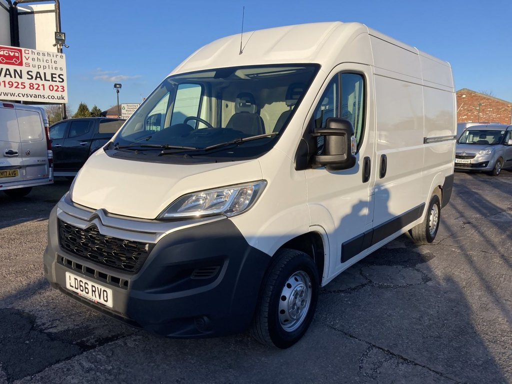 USED 2016 66 CITROEN RELAY 2.0 35 L2H2 ENTERPRISE BLUEHDI 129 BHP 1 OWNER FSH NEW MOT FREE 6 MONTH WARRANTY INCLUDING RECOVERY AND ASSIST