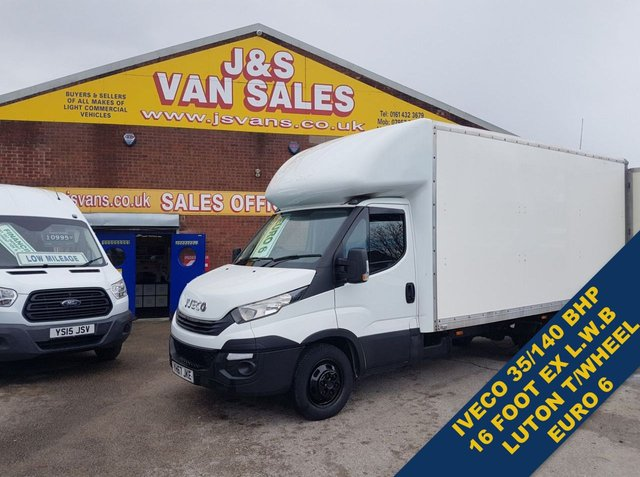 USED 2017 67 IVECO DAILY 35C140  EXTRA L.W.B JUMBO LUTON TWIN WHEEL  BIG STOCK EURO 5/6 OVER VANS OVER 100 ON SITE