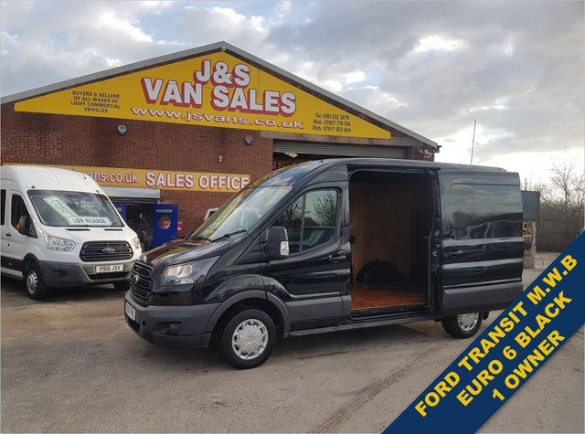 USED 2017 17 FORD TRANSIT  L2 H2 MED WHEEL BASE PANTHER BLACK EURO 6 WATCH FULL H/D VIDEO FULL INFO