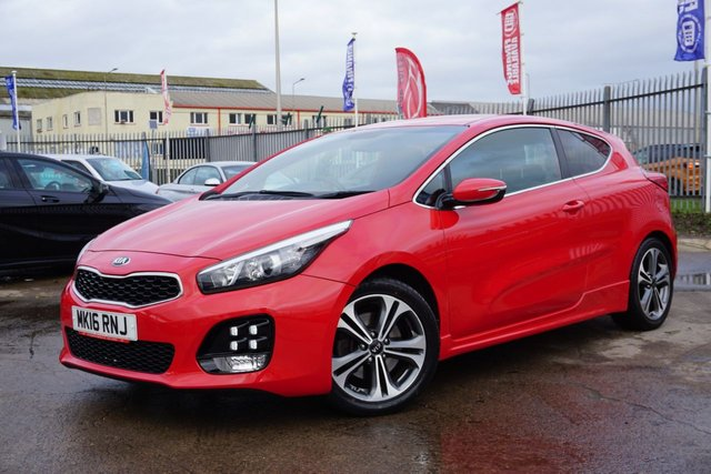 USED 2016 16 KIA PRO CEED 1.6 CRDI GT-LINE ISG 3d 134 BHP GREAT SPEC, LOW MILEAGE