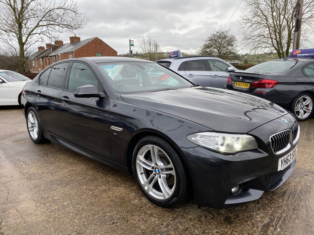 USED 2013 63 BMW 5 SERIES 2.0 520D M SPORT 4d 181 BHP * HEATED LEATHER * PRO SAT NAV * BLUETOOTH *  STUNNING THROUGHOUT *