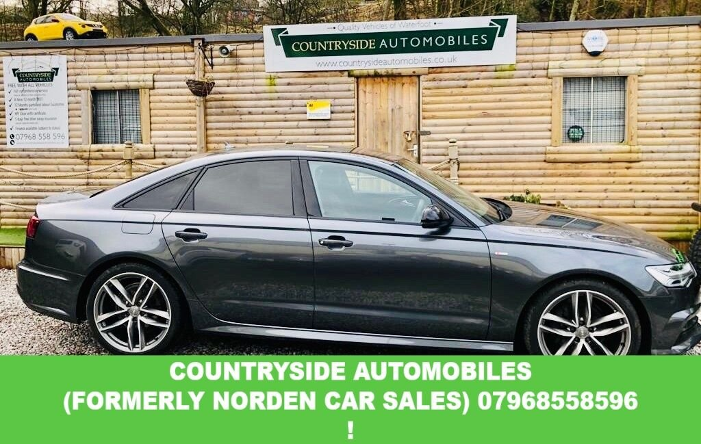 USED 2017 67 AUDI A6 2.0 TDI ULTRA BLACK EDITION 4d 188 BHP truly stunning example of A Ultra Black edition 2.0 diesel A6, finished in Daytona grey metalic, 20 in twin spoke alloys, Volcanna leather, Bose sound system, Heated memory seats, has full Audi service history and comes with ballance of maintenance pack. S line sports bumpers front and rear, sim car model with AUX and USB. Virtual dash with sat nav on either display or both, This car truly is stunning and been kept maticulously by the 1 previous owner.