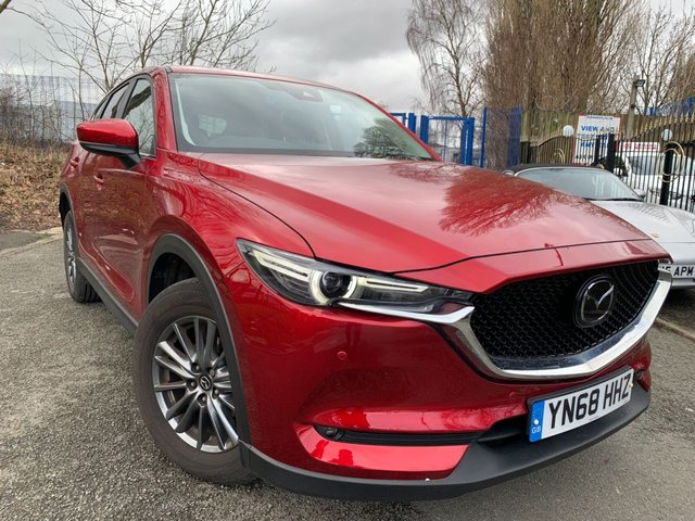 """USED 2018 68 MAZDA CX-5 2.0 SE-L NAV PLUS 5d 163 BHP MAZDA WARRANTY+2 KEYS+1 OWNER FROM NEW+CAMERA+NEW SHAPE MODEL+17""""ALLOYS+CLIMATE+PRIVACY GLASS+PARKING SENSORS+NAVIGATION WITH MAPS+BLUETOOTH+MEDIA+USB+AUX+DAB+"""