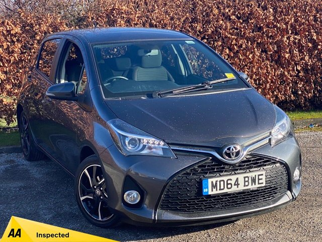 USED 2015 64 TOYOTA YARIS 1.3 VVT-I SPORT 5d 99 BHP * LOW MILEAGE CAR * BLUETOOTH * 12 MONTHS FREE AA MEMBERSHIP *