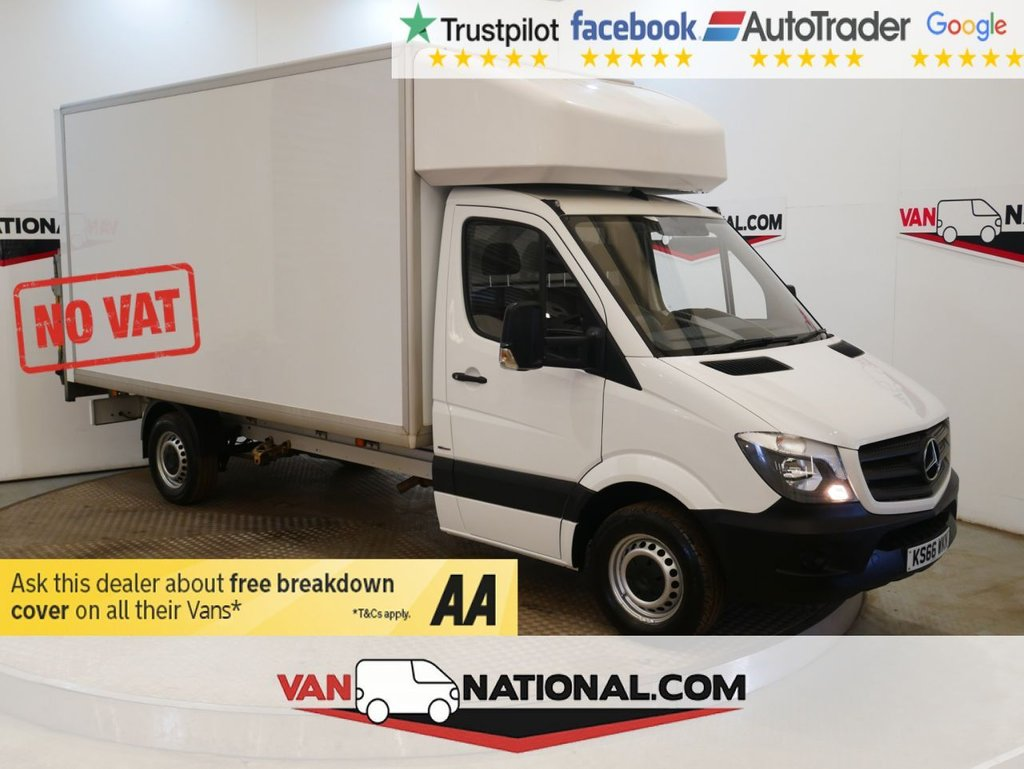 USED 2016 66 MERCEDES-BENZ SPRINTER 2.1 314CDI 140 BHP LUTON WITH TAIL LIFT *NO VAT* * NO VAT * EURO 6 * TAIL LIFT *