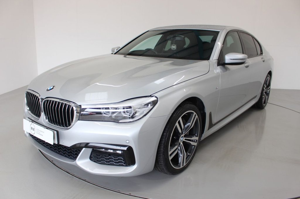 USED 2017 67 BMW 7 SERIES 3.0 730D M SPORT 4d AUTO-1 OWNER CAR-HEATED FRONT AND REAR SEATS-BLACK NAPPA LEATHER- UPGRADE 20