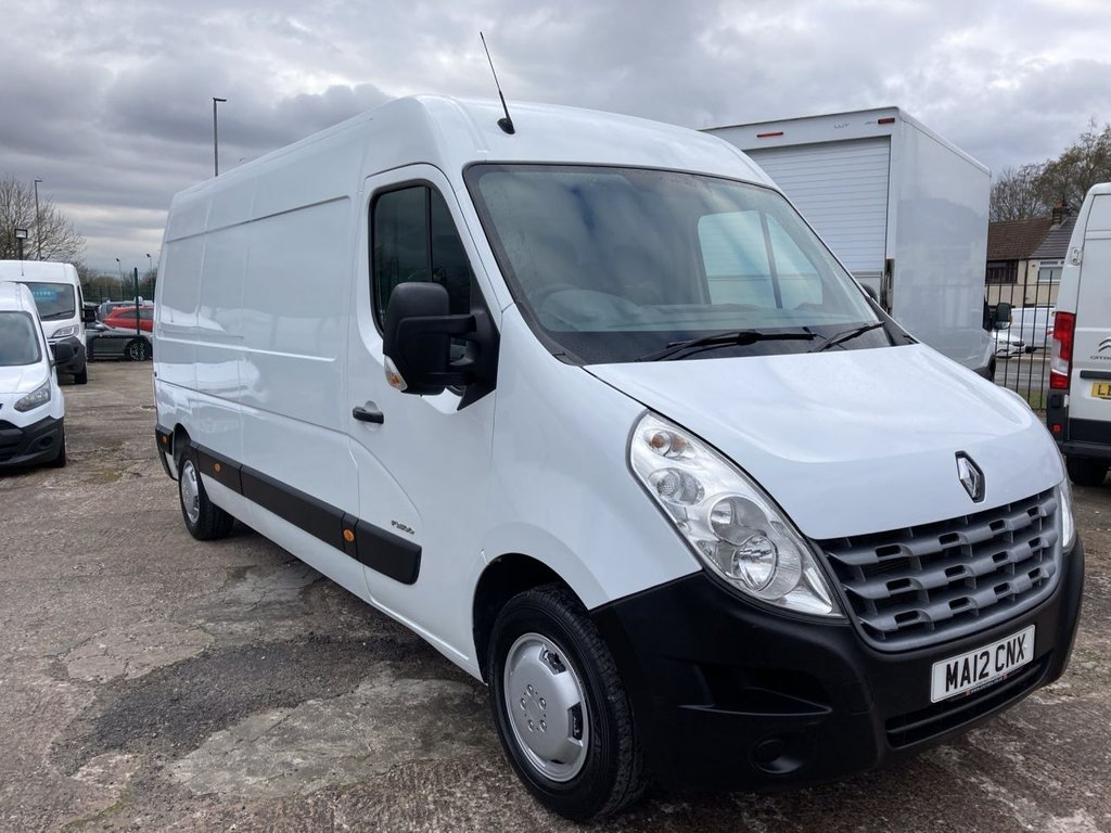 USED 2012 12 RENAULT MASTER 2.3 LM35 DCI S/R 125 BHP 1 OWNER NEW MOT AIR CON SAT NAV FREE 6 MONTH WARRANTY AIR CONDITIONING SATELLITE NAVIGATION