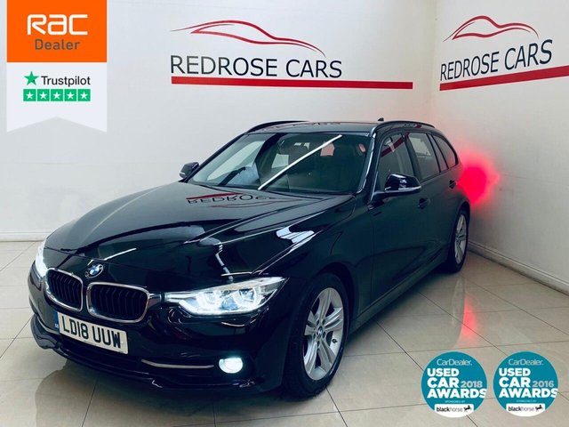 USED 2018 18 BMW 3 SERIES 2.0 320D ED SPORT TOURING 5d 161 BHP FULL BMW SRVC, 1 OWNER, 2 KEYS
