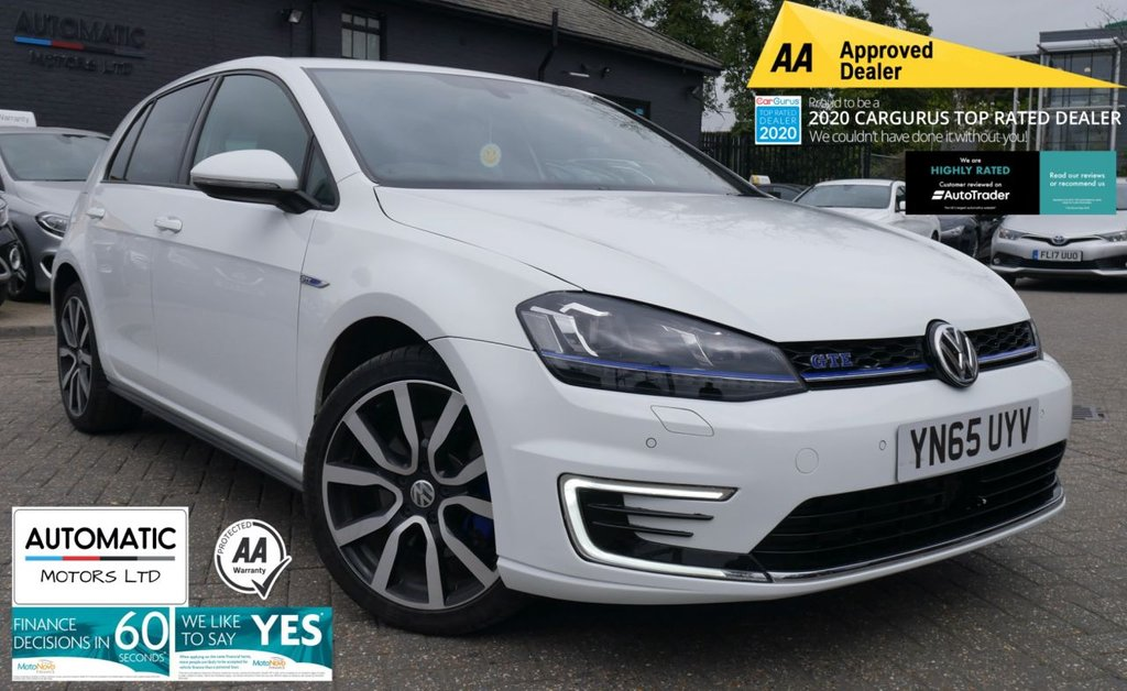 USED 2015 65 VOLKSWAGEN GOLF 1.4 GTE 5d 150 BHP 2015 VOLKSWAGEN GOLF 1.4 GTE 5d 150 BHP CHARGING CABLE BLUETOOTH