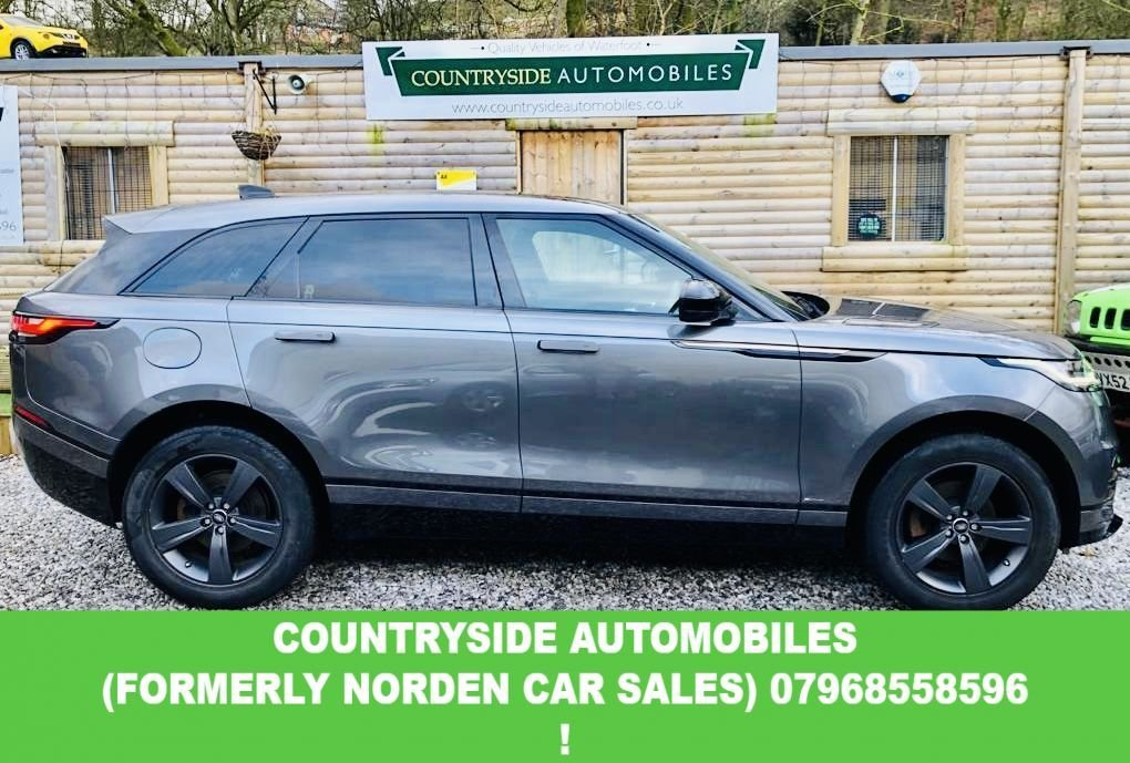 USED 2018 18 LAND ROVER RANGE ROVER VELAR 2.0 R-DYNAMIC S 5d 177 BHP Here we have a superb example of a good specification Velar, finished in Eiger grey mettalic, with 19 inch Alloys, complimented by black leather interior with ahite stitching, 4 zone climate control, front and rear parking sensors, Privacy glass, R dynamics pack, piano black interior finish, additional USB sockets with SD card. Looks and drives fantasic and has just had a full service with genuine Land rover parts and 4 brand new Dunlop Tyres. My sister has cherished this car since brand new.