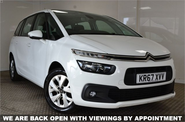 USED 2017 67 CITROEN C4 GRAND PICASSO 1.6 BLUEHDI TOUCH EDITION S/S 5d 98 BHP STUNNING C4 GRAND PICASSO IN WHITE