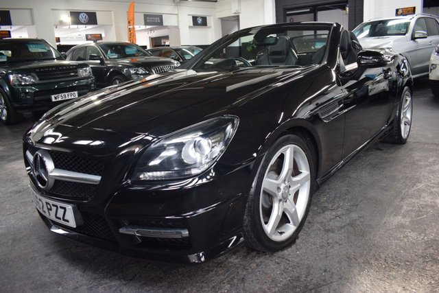 USED 2012 62 MERCEDES-BENZ SLK 2.1 SLK250 CDI BLUEEFFICIENCY AMG SPORT 2d 204 BHP LOVELY CONDITION - F/S/H TO 47K MILES - EXCLUSIVE LEATHER - NAV - AIRSCRAF - HEATED SEATS - NAV - XENONS - PDC FRONT AND REAR