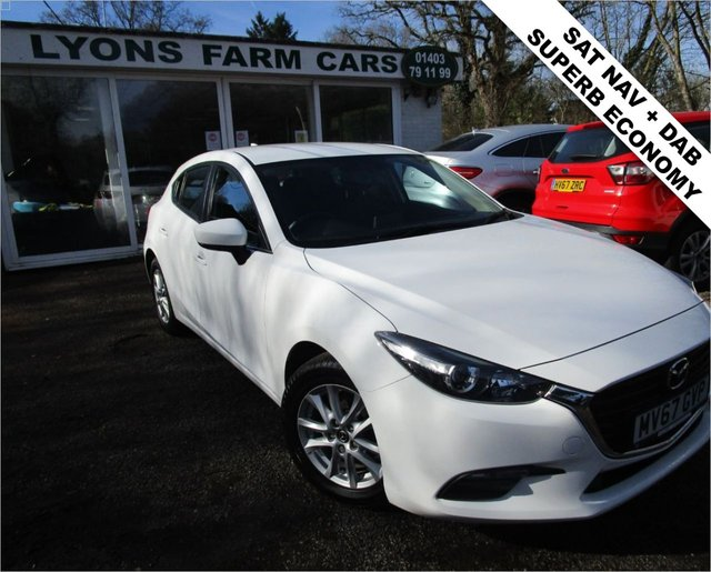USED 2017 67 MAZDA 3 1.5 D SE NAV 5d 104 BHP Just Serviced, One Owner, MOT until September 2021, Superb fuel economy!